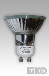Eiko BAB-FG-GU10-120V - 120V 20W 38 Deg. Flood MR16 GU10 Base HALOGEN 031293053732 Lamps.