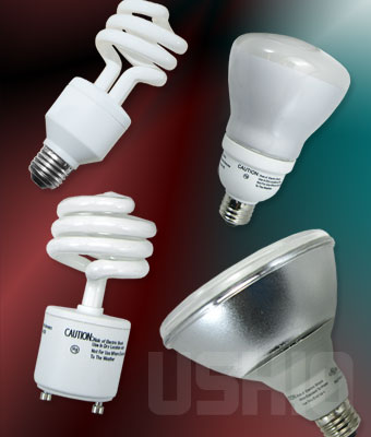 Ushio 3000546 - CF18CLT/2700/GU24 Light Bulb