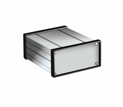 Bud Industries EX-4502 - extruded alum box, 6.30 deep
