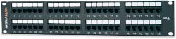 West Penn Accessories 48458MD-C5E 48-Port Category 5e Patch Panel T568A/B.