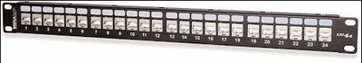 West Penn Accessories 48458S-C6A 48-Port Category 6A 10G Screened Patch Panel.