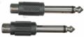 Hosa GPR-101 - Adaptors, RCA to 1/4 in TS, 2 pc