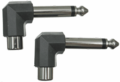Hosa GPR-123 - Right-angle Adaptors, RCA to 1/4 in TS, 2 pc