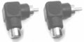 Hosa GRA-259 Right-angle Adaptors RCA to RCA 2 pc Adaptors.