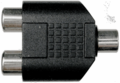 Hosa GRF-341 Coupler 3.5 mm TRS to Dual RCA Adaptors Analog.