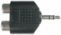 Hosa GRM-193 Adaptor Dual RCA to 3.5 mm TRS Adaptors Analog.
