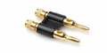 Hosa BNA-260BK Connector Dual Banana Black Connectors.