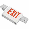 Howard Lighting HL02143RW Combo Exit-Emergency Light,White Case/Housing,RED letters,Battery (Lead),.