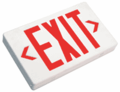Howard Lighting HL0301B2RW EXIT sign,White Case/Housing,RED letters,Battery,.