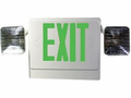 Howard Lighting HL04093GW Combo Exit-Emergency Light,White Case/Housing,GREEN letters,Battery (Lead),.