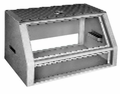 Bud Industries C-1555 - Small Metal Electronics Enclosures-C series-Panels-L22 X W12 X D14 - Sloping Prestige Cabinet