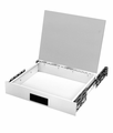 "DD-2363-WH Bud Industries - 19 inch Rack Drawers-DD series-Accessories 19"" Desktop Drawer-L3 X W17 X D14 - Desk Top Drawer"