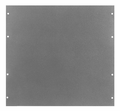 "Bud Industries PA-1131-MG - Electronics Enclosure Accessories-PA series-Accessories Surface Shield Panels-L2 X W19 X D0 - Panel, 19"" Alum"