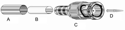 West Penn Accessories CN-BM74-18 BNC Crimp 75 ohm MiniMax West Penn Accessories Connectors.