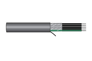 Alpha Wire 85018CY-BK005 | High Flex Shielded  Cable, XTRA-GUARD FLEX , 85018CY BLACK 100 FT