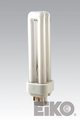 Eiko QT13/27-4P - 13W Quad-Tube 2700K G24q-1 4 Pin Base Fluorescent CF LAMPS Light Bulb