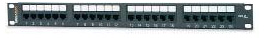 West Penn Accessories 12458MD-C5E 12-Port Category 5e Patch Panel T568A/B.