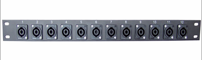 West Penn Accessories CN-1RUSPK12TB 1RU - 12 Speakon Terminal Block West Penn.