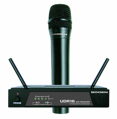 Bogen udms800hh wireless microphone system, w/ handheld microphone/xmtr, and uhf receiver Bogen microphones & accessories wireless microphone system.