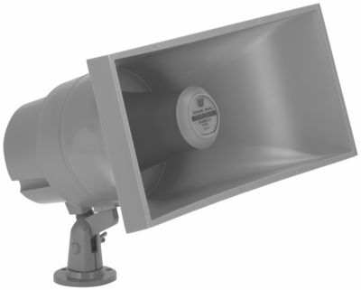 Electro-Voice EV CFID32-T F.01U.118.960 - 32-watt paging projector, 55� x 74�, weather resistant, integral swivel bracket, 32-watt 25/70.7-volt transformer (32-, 15-, 10-, 5-, 2.5- and 1.25-watt taps), gray