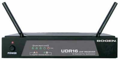 Bogen udr800 800-channel, pll-synthesized uhf receiver Bogen microphones & accessories wireless microphone system.