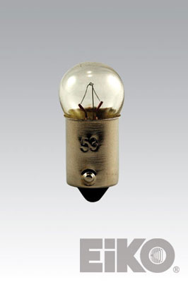Eiko A-62-BP - Light Bulb, 6V 3W G3-1/2 Mini Bayonet (2 BP)