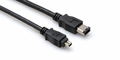 Hosa FIW-46-110 - FireWire 400 Cable, 4-pin to 6-pin, 10 ft