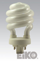 Eiko SP18/27-4P - 18W 2700K 4 Pin Base Spiral CFLI 031293052506 Lamps.