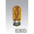 Eiko 555-A - Light Bulb, 6.3V .25A T3-1/4 Wedge Base (Painted Amber)