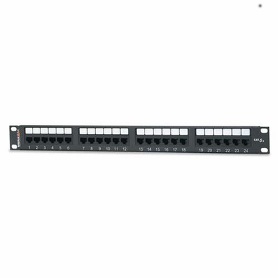 West Penn Accessories 24458MD-C5E 24-Port Category 5e Patch Panel T568A/B.