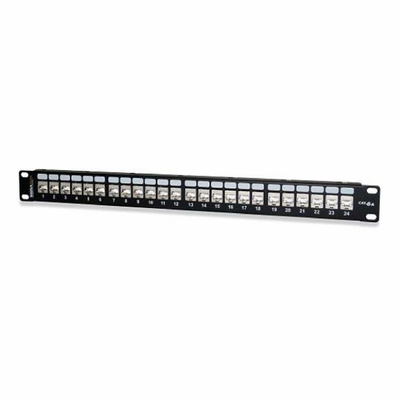 West Penn 24458S-C5E 24-Port Category 5e Screened Patch Panel.