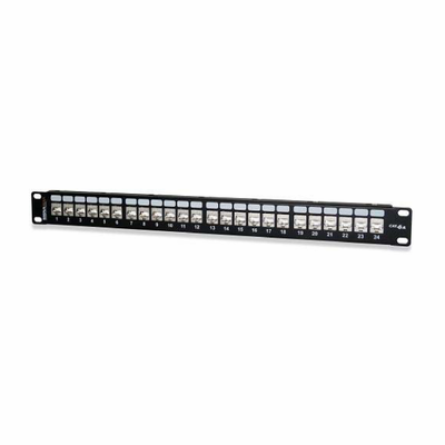 West Penn Accessories 24458S-C6C 24-Port Category 6 Screened Patch Panel.