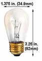 Ushio 1003212,  Lamp -Light Bulb - 11W S14/CL/20, 20000 h