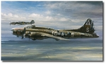 In the Presence of My Enemy by John Shaw (B-17 Flying Fortress, Bf109)