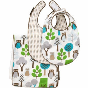 DwellStudio Owl Doll Bib & Burp 3 Piece Set