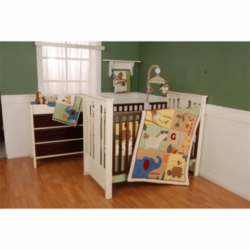 KidsLine Safari 4 Piece Crib Bedding Set