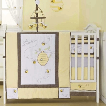 KidsLine Cute As Can Bee 6 Piece Crib Set