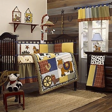 CoCaLo Round 'Em Up 6 Piece Crib Bedding Set