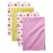Kids Line Tiddliwinks Sweet Safari 4PK Receiving Blankets