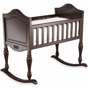 Sorelle Lisa Cradle with Mattress - Espresso