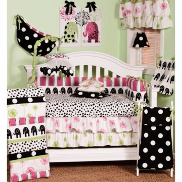 Cotton Tale Designs N. Selby Hottsie Dottsie 4 Piece Crib Bedding Set