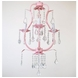 CoCaLo 3 Light Chandelier - Pink with Clear Crystals