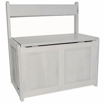 Kettler Toy Bench Chest in White
