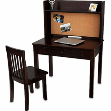 Kidkraft Pinboard Desk & Chair in Espresso