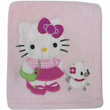 Bedtime Original Hello Kitty & Puppy Blanket