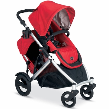 Britax 2012 B-Ready Stroller & Second Seat - Red