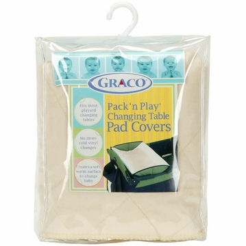 Graco 2 pk Changing Table Pad Covers in Cream