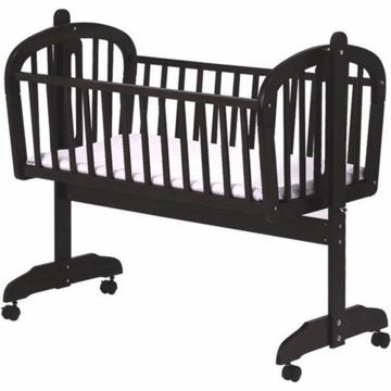 DaVinci Futura Rocking Cradle with Wheels in Ebony