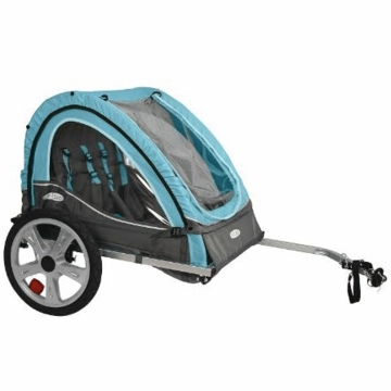 InSTEP Take 2 Bicycle Trailer-Double Light Blue/Gray