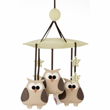 3 Sprouts Mobile in Owl Cream